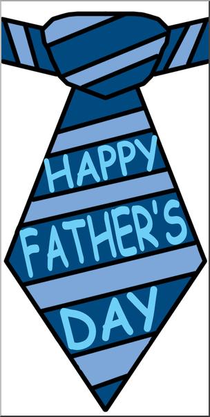 Clip Art: Happy Father's Day Tie Color I abcteach.com.