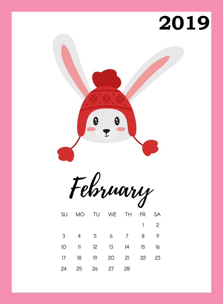 February 2019 calendar Printable Excel template with Holidays Free.