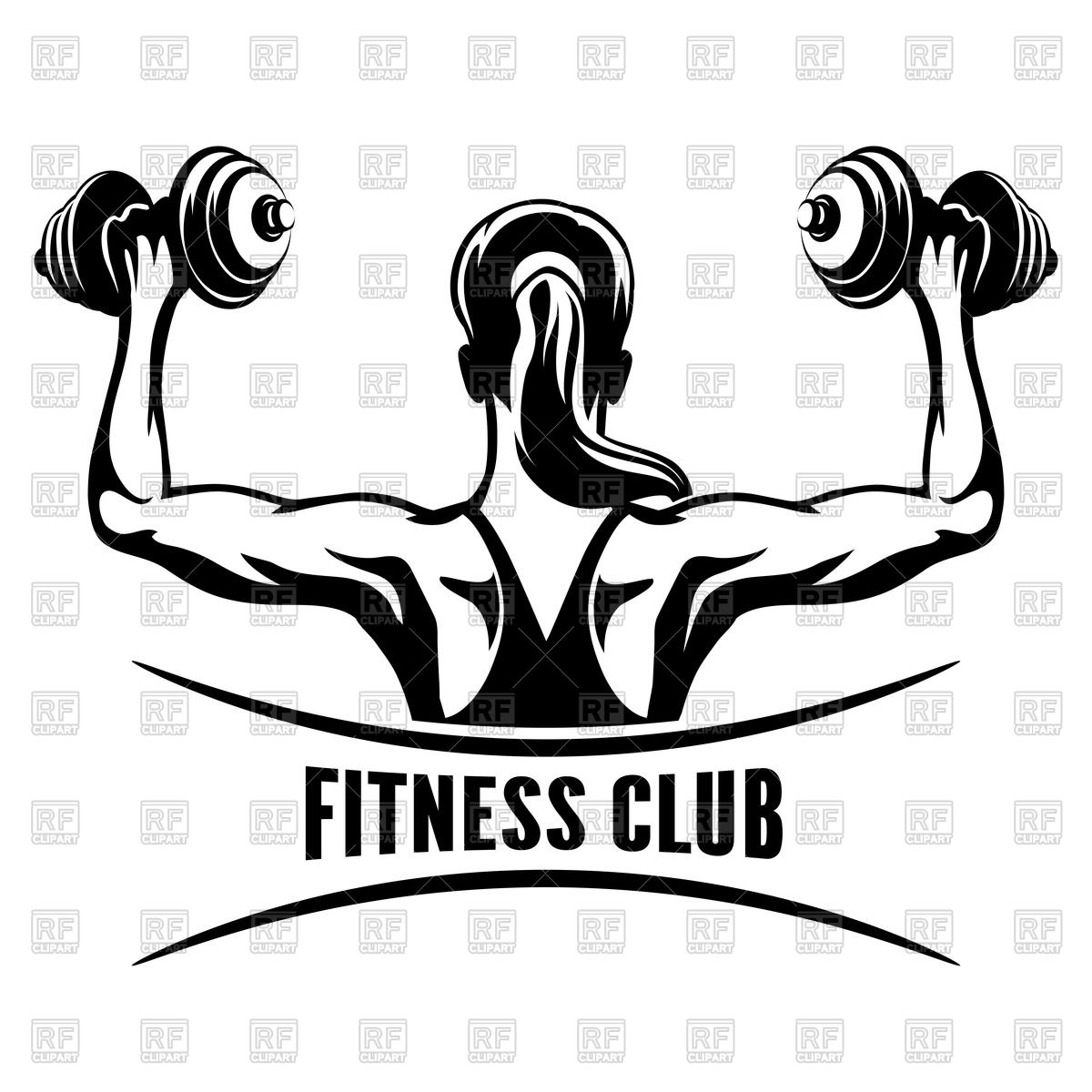 Gym Clipart Black And White & Free Clip Art Images #10574.