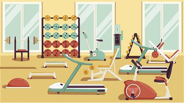 Best Gym Equipment Illustrations, Royalty.
