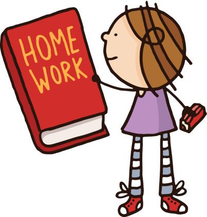 Homework Book Clipart.