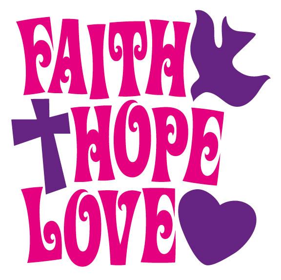 Faith hope love clipart.