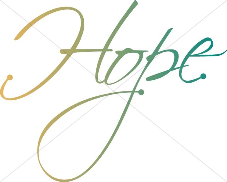 Hope Word Art.