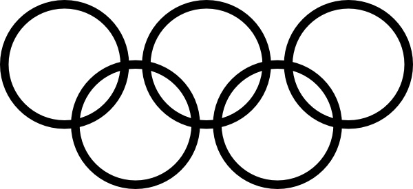 Olympic Rings Icon clip art Free vector in Open office drawing svg.