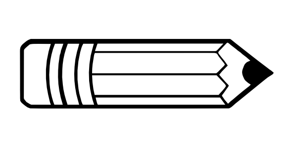 Pencil Outline clip art.