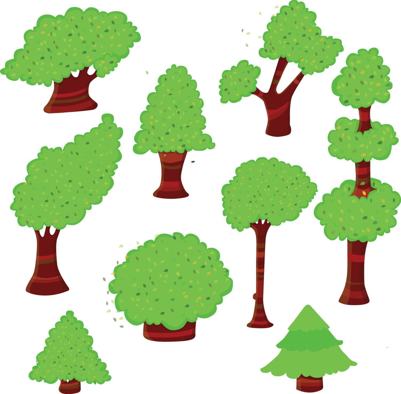 Trees clipart, Green trees clipart, tree clipart, woodland clip art.
