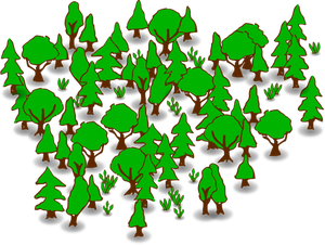 549 clipart forest trees.