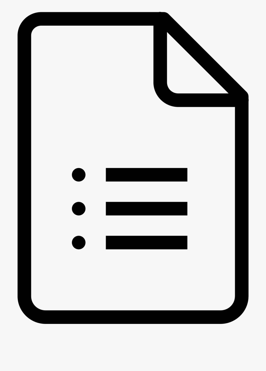 Document Clipart Form.