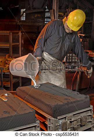 Stock Photography of Foundry Worker.