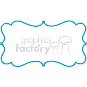 blue lines frame swirls boutique design border 9 clipart. Royalty.