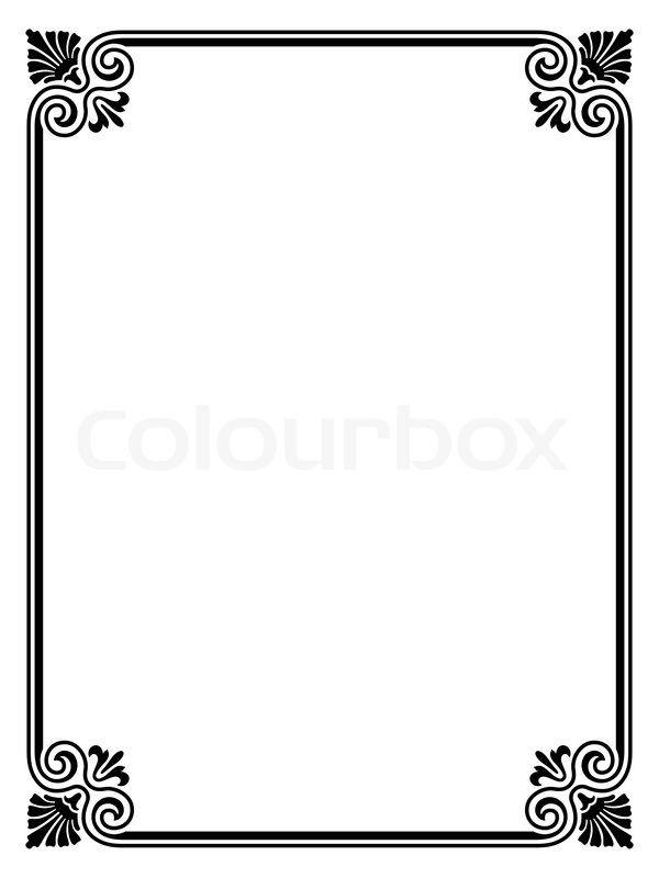 Image result for word border design.