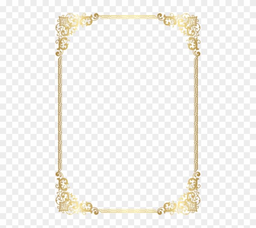 Free Png Download Gold Border Frame Transparent Clipart.