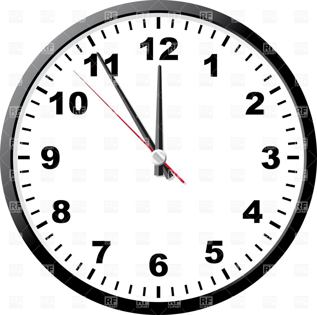 Office clock face Stock Vector Image.