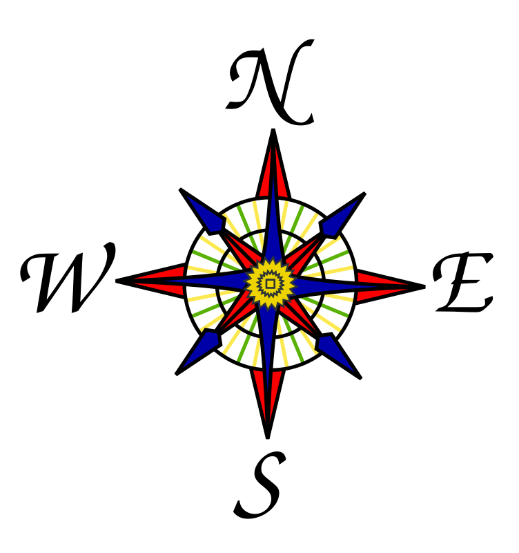 Free Clipart: Compass rose.