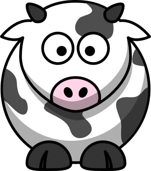 Cartoon cow clip art free vector in open office drawing svg.
