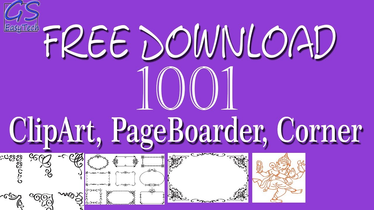 Download Free Clipart, Page border, page corner for coreldraw, #Gseasytech  graphics.