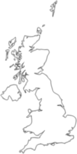 Uk Map Outline clip art Free vector in Open office drawing svg.