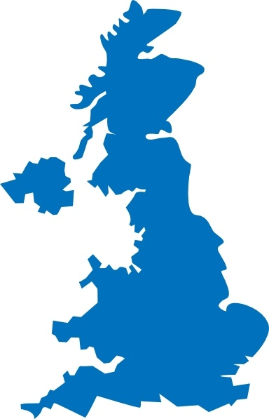 United Kingdom Map clip art Free vector in Open office drawing svg.