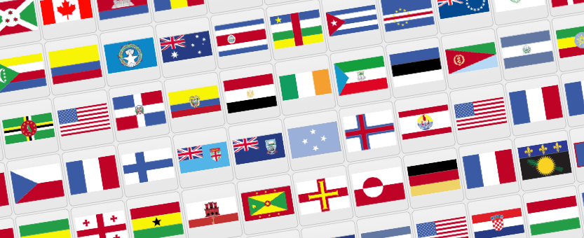 Flags Countries of the World Free Vector Clip Art.