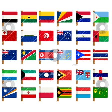 Free flags of the world clipart 1 » Clipart Portal.