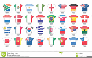 Soccer World Cup Flags Clipart.