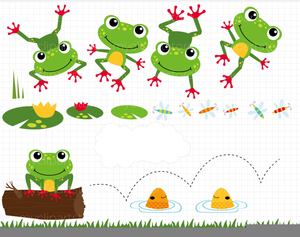 Leaping Frogs Clipart.