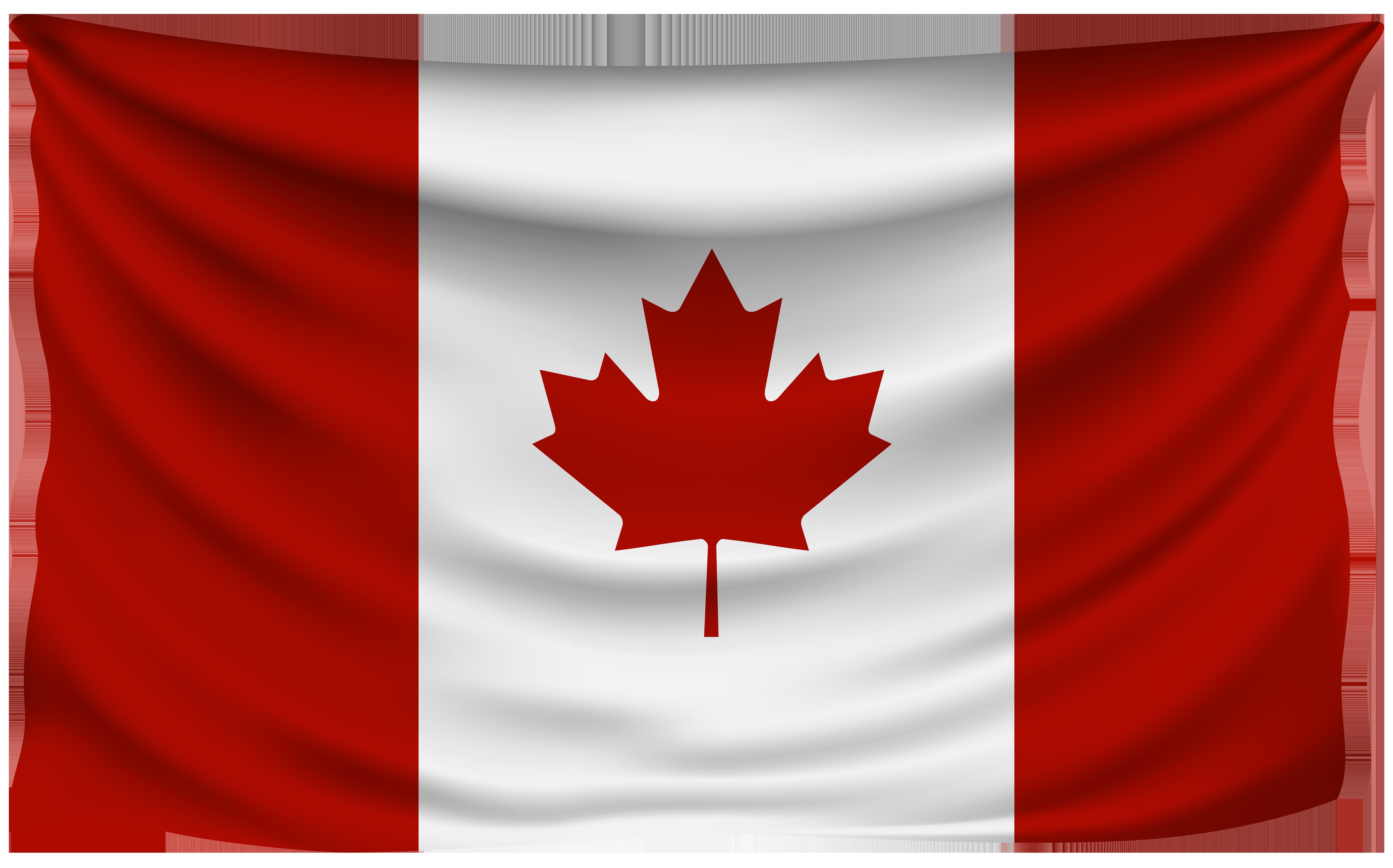 Canada Wrinkled Flag.
