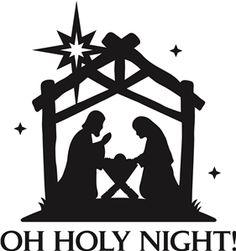64+ Nativity Silhouette Clip Art Free.