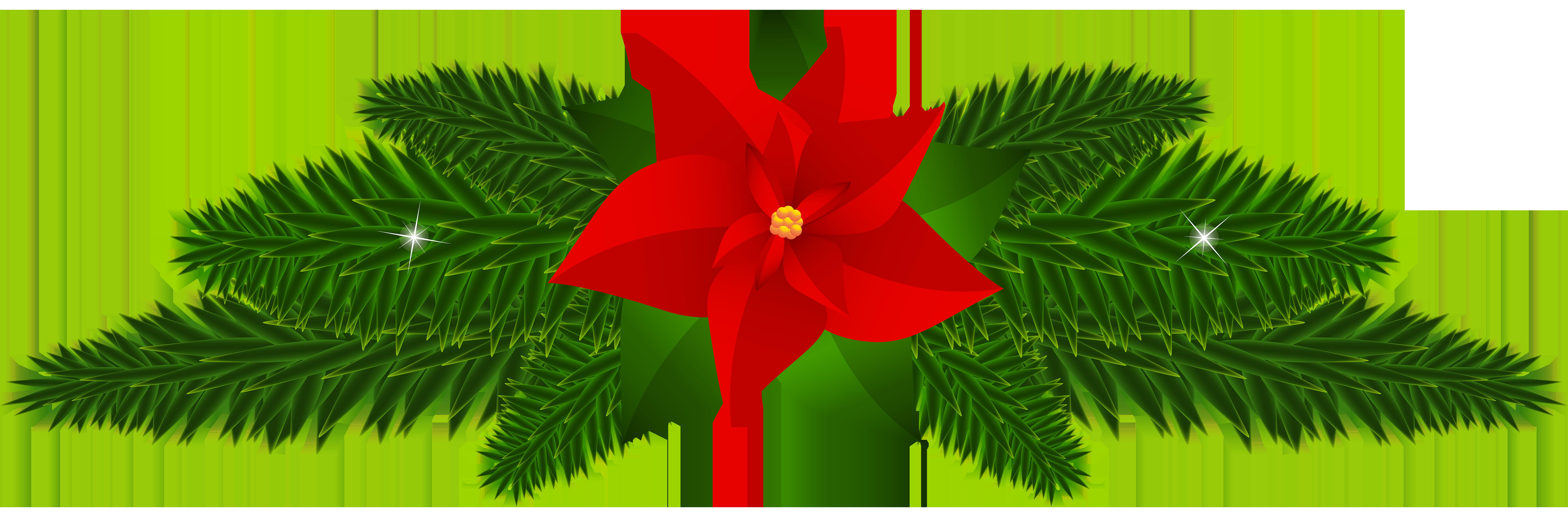 Christmas Poinsettia Decoration PNG Clip Art.