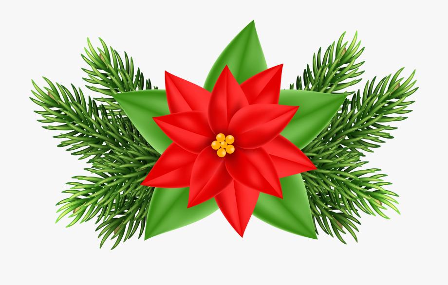 Christmas Ornaments Clipart Poinsettia.