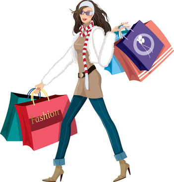 Fashion shopping girls clip art free vector download (210,840 Free.