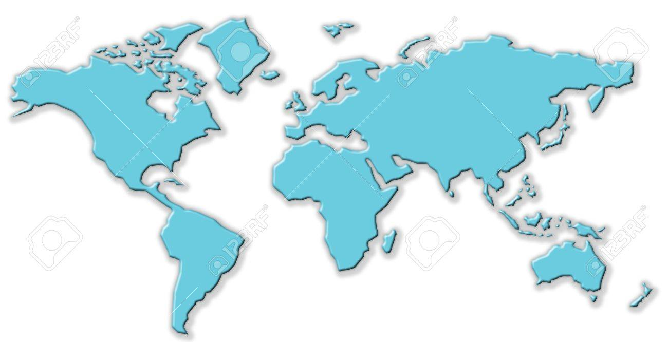 World Map Clipart Free.