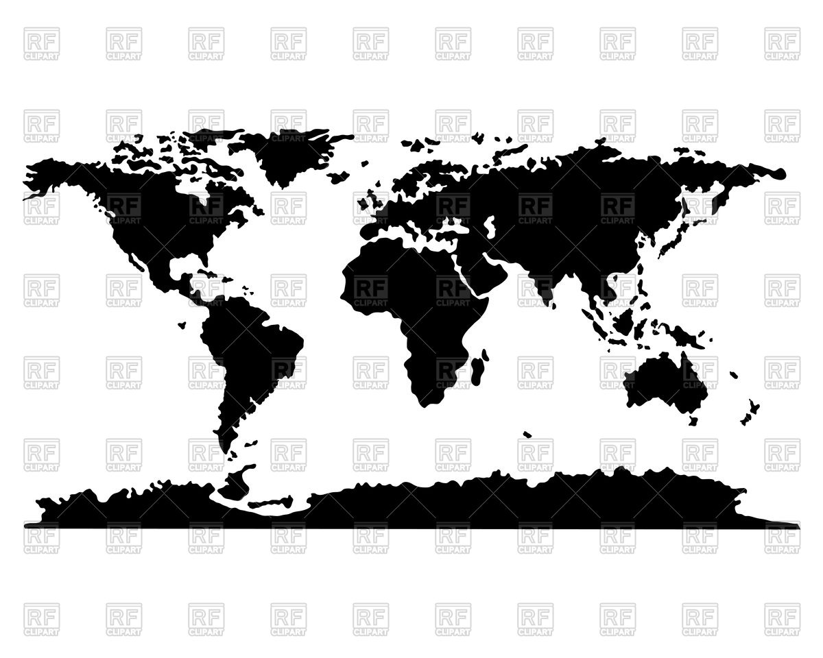 Abstract silhouettes of world map Stock Vector Image.