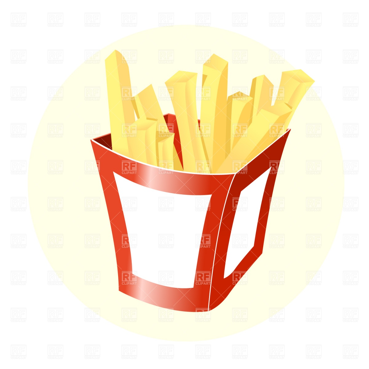 French Fries Stock Vector Image.