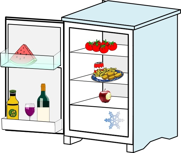 Fridge With Food Jhelebrant clip art Free vector in Open office.