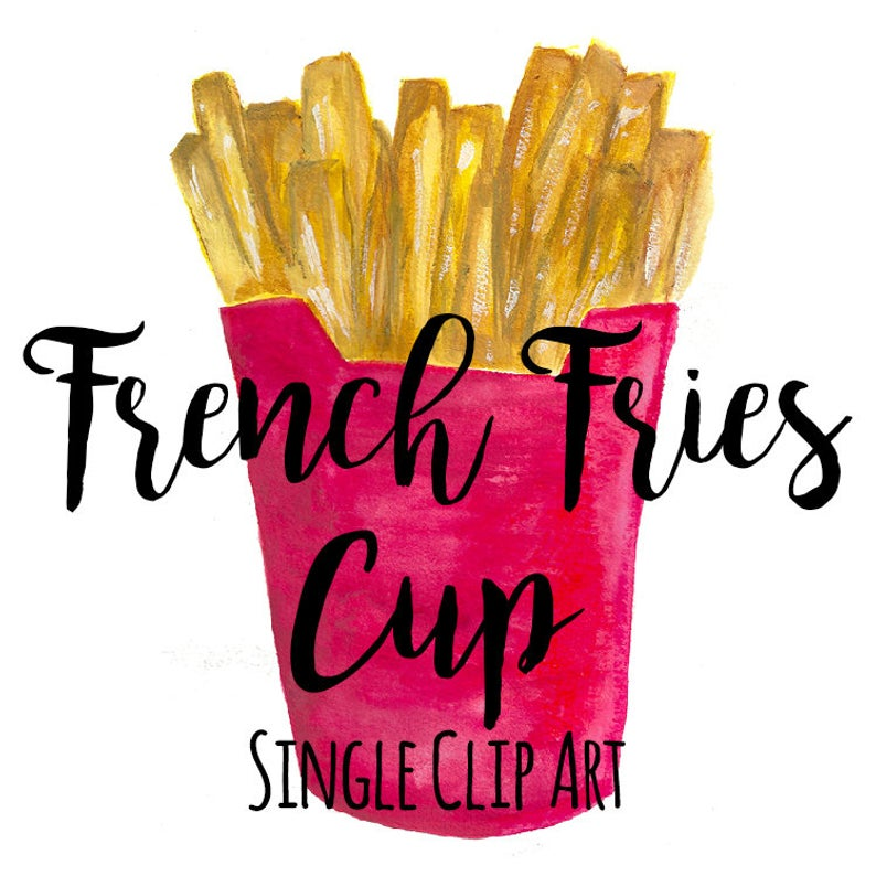 French Fries Cup Clip Art, Single file, Fast Food Clip Art, Watercolor Clip  Art, INSTANT DOWNLOAD, French Fry Art, Fried Food Clip Art.