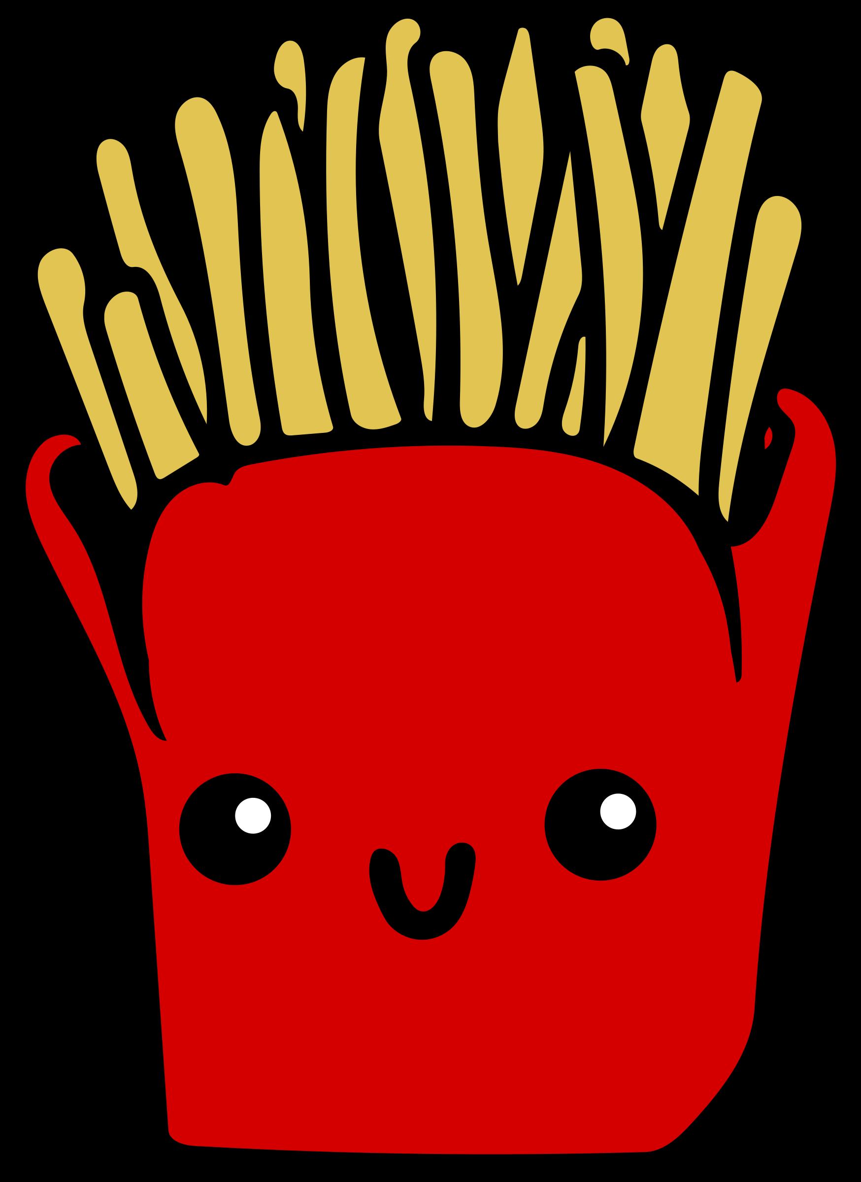 Kawaii Fries Vector Clipart image.