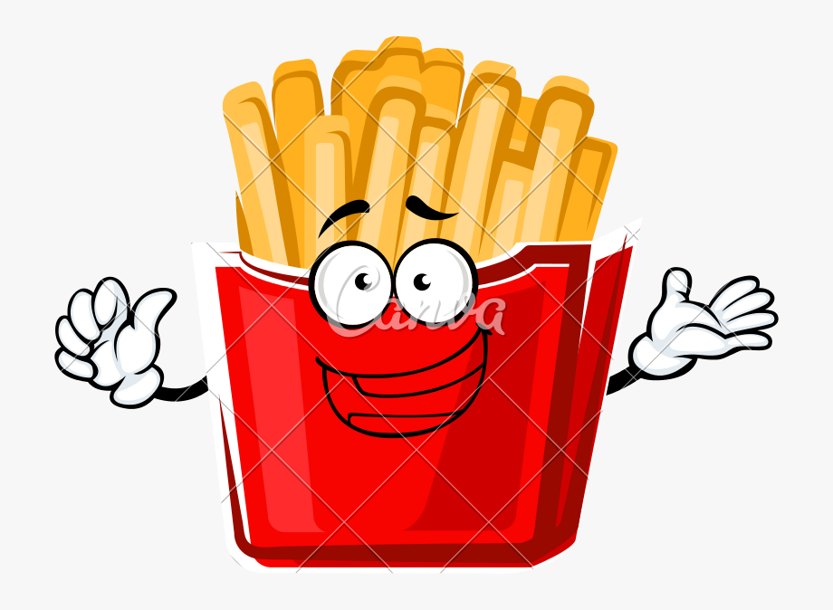 Cartoon French Fries Png.