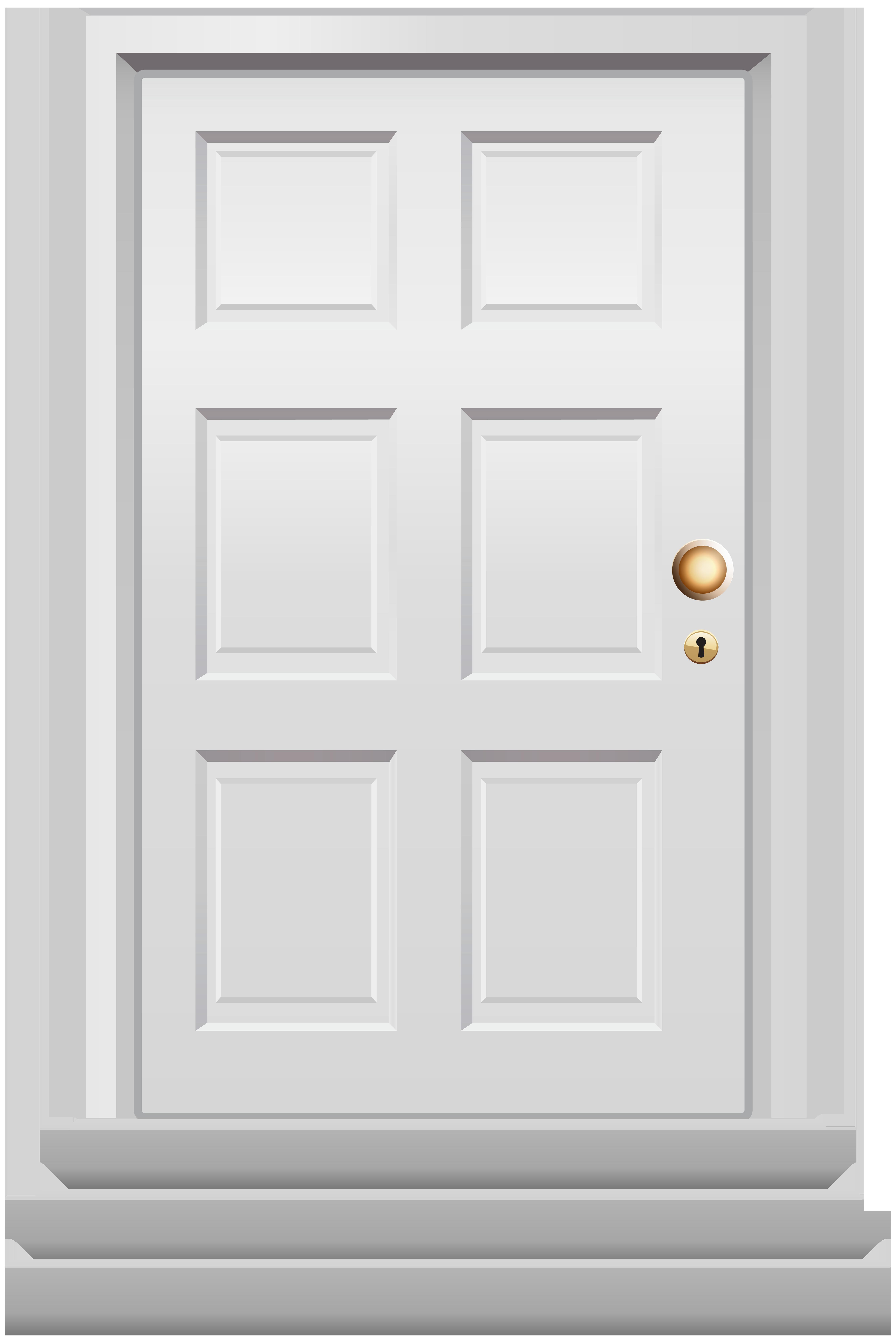 Front Door White PNG Clip Art.