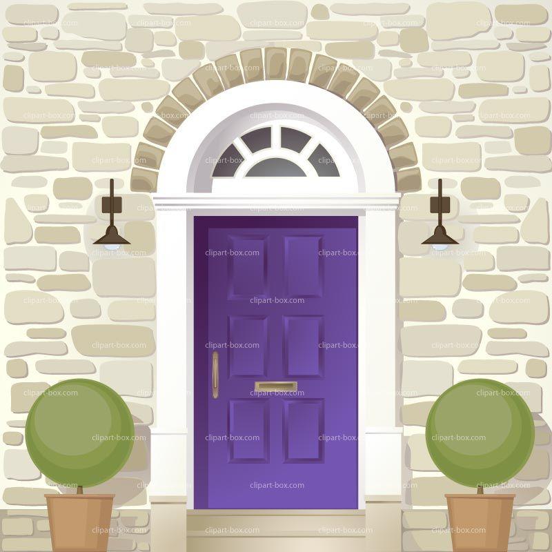 Clipart Front Door Royalty Free Vector Design.
