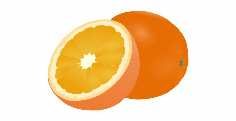 Fruit Clipart Orange Logo.