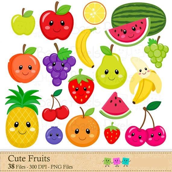 Kit Imprimible Frutas 7 Imagenes Clipart.