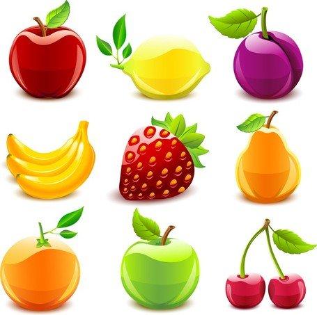 Imágenes clip art y gráficos vectoriales Frutas de cristal 1.