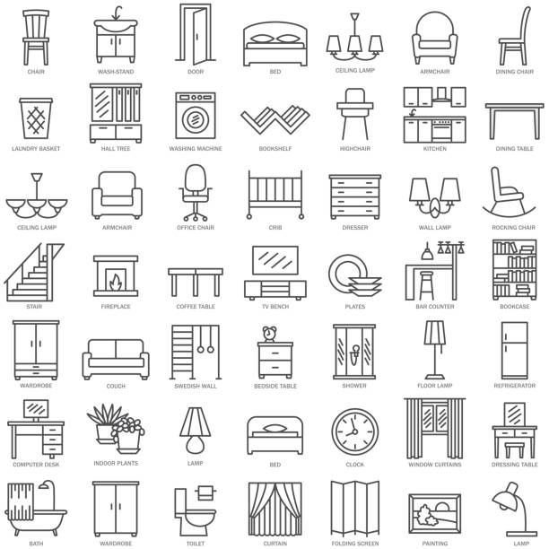 Best Furniture Illustrations, Royalty.