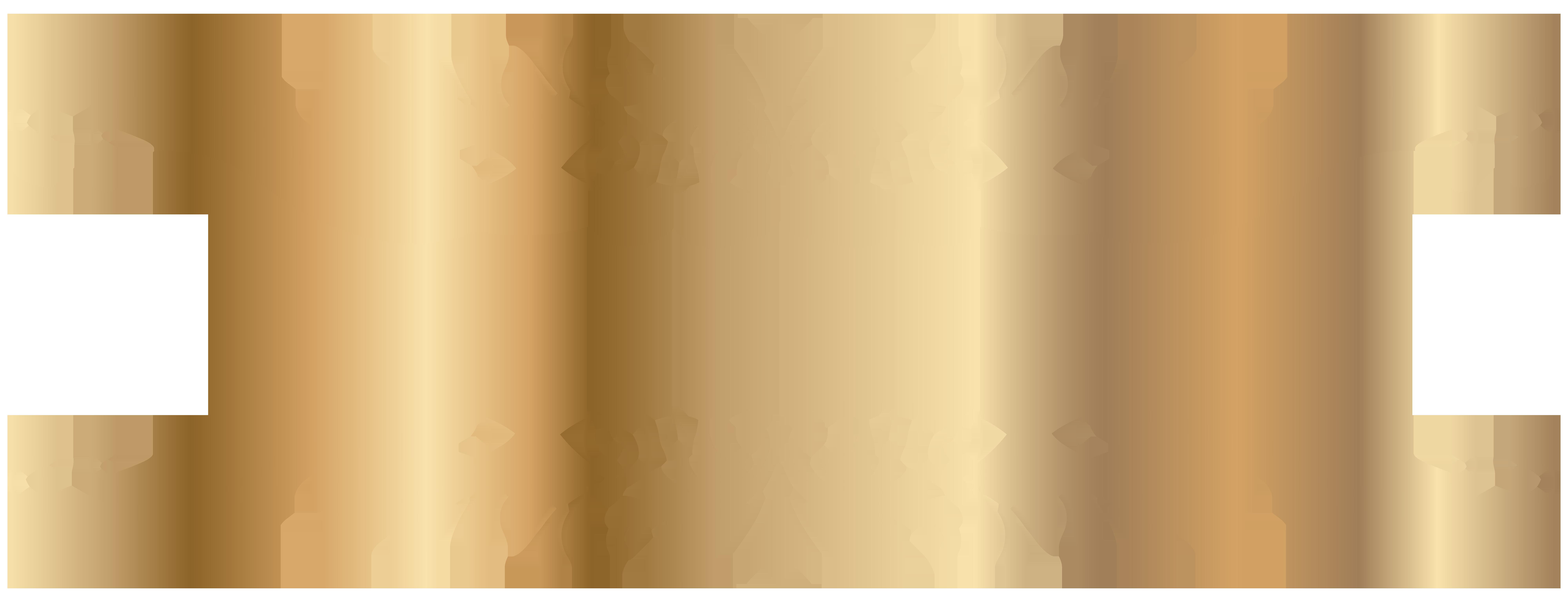 Golden Decorative Element PNG Clip Art.