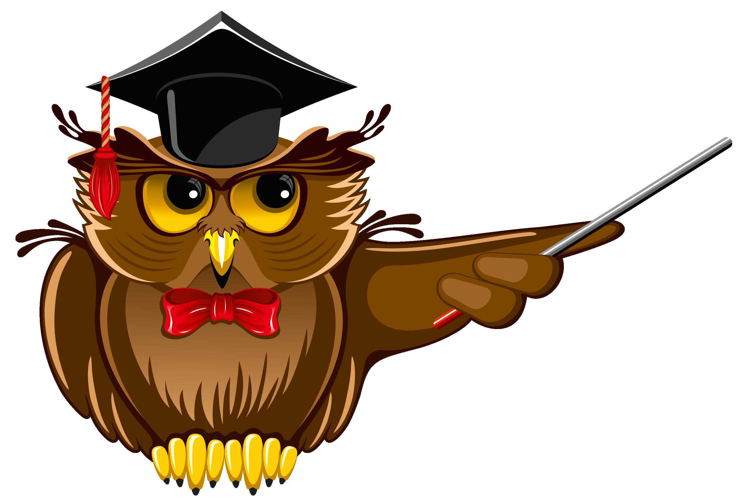 Owl Teacher PNG Clipart.