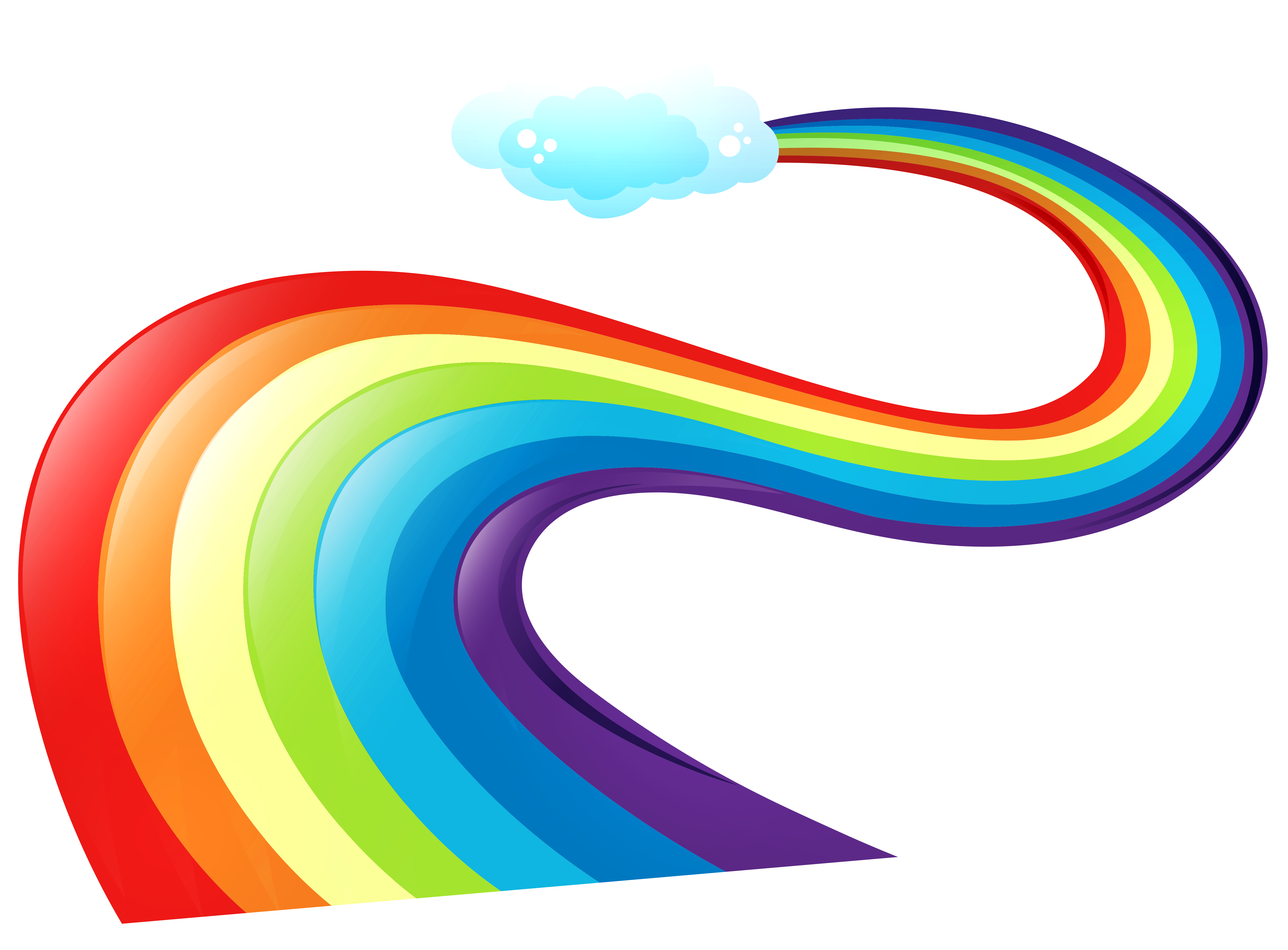 Rainbow Way PNG Clipart.