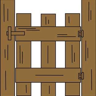 Ranch Entrance Gates Clip Art.
