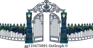 Garden Gate Clip Art.