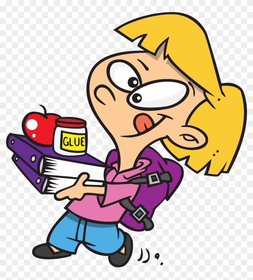 Getting Ready For School Cartoon Clipart.